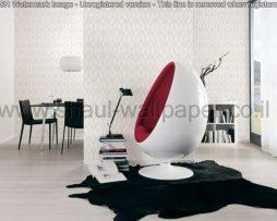 טפטים לחדר שינה, טפטים לפינות אוכל, טפט מעויינים ומשושים בצבע לבן