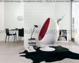 טפטים לחדר שינה, טפטים לפינות אוכל, טפט מעויינים ומשושים צבע לבן טורקיז