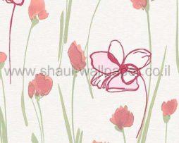 טפט לקיר,לסלון,מטבח,חדרי שינה ולחלל הבית טפט פרחים בסגנונות שונים