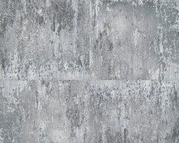 טפט דמוי קיר בטון אפור ונגיעות של שחור