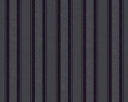 טפט פסים שחורים רחבים וצרים בשילוב נצנצים מבריק ומט