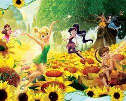 תמונת טפט פיות דיסני בשדה פרחים