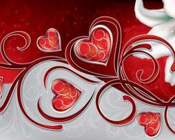 תמונת טפט לבבות מנצנצים